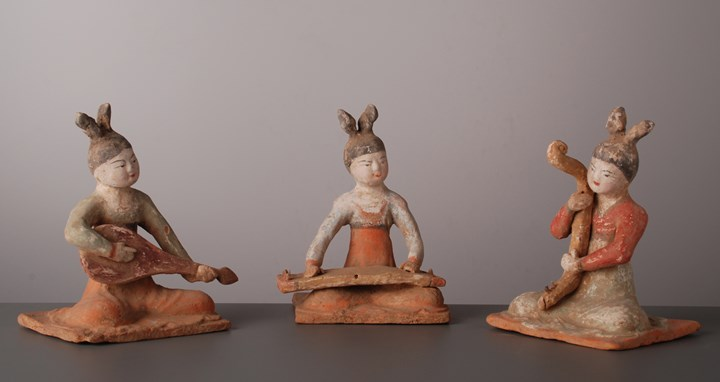Three Seated Musicians - Tang Dynasty