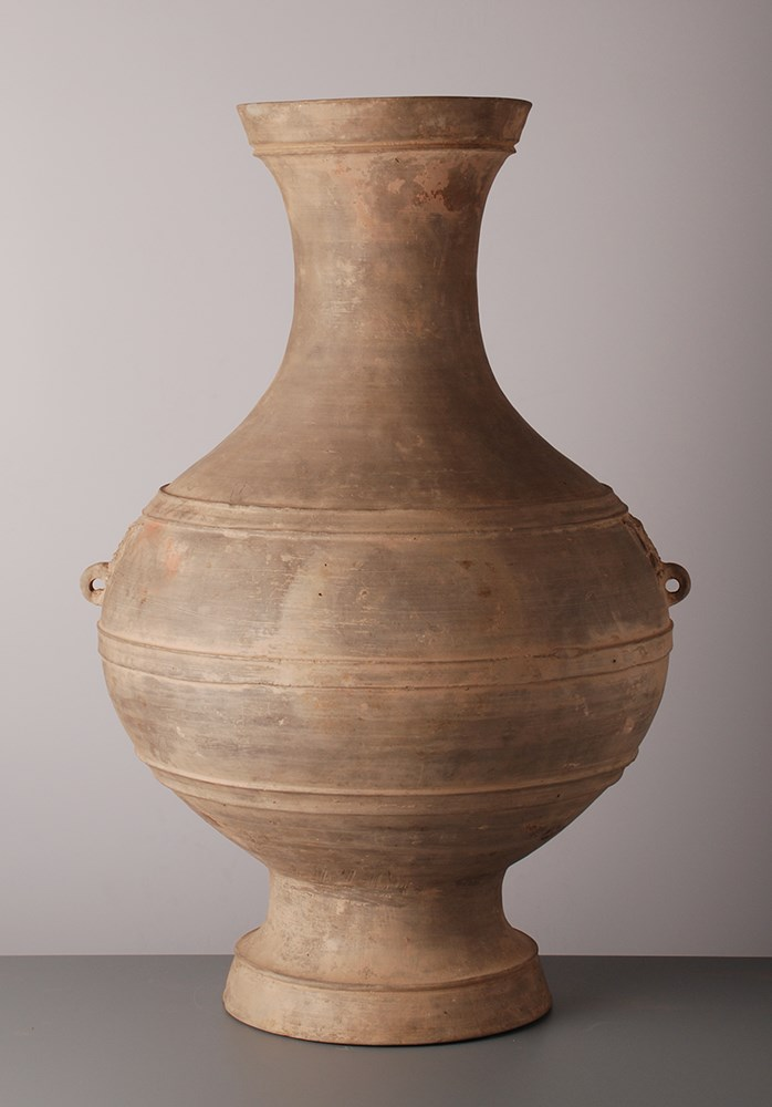 Large Pair Terracotta Vases