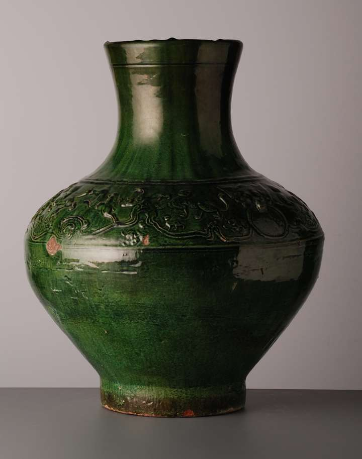 Green Glazed Vase - Han Dynasty