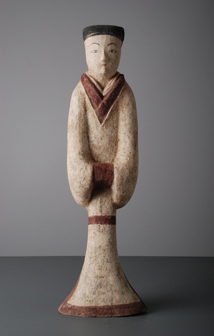 Pottery Figure of a Courtier