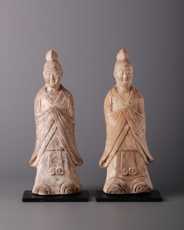 Pair of Attendants in Robes