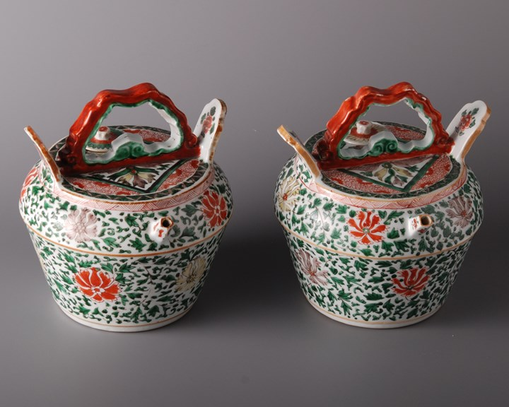 406. Pair of Lime Pots