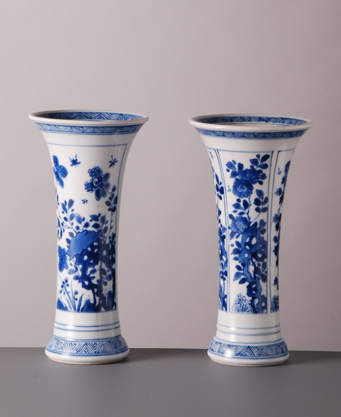 Pair of Vases with flowers | MasterArt