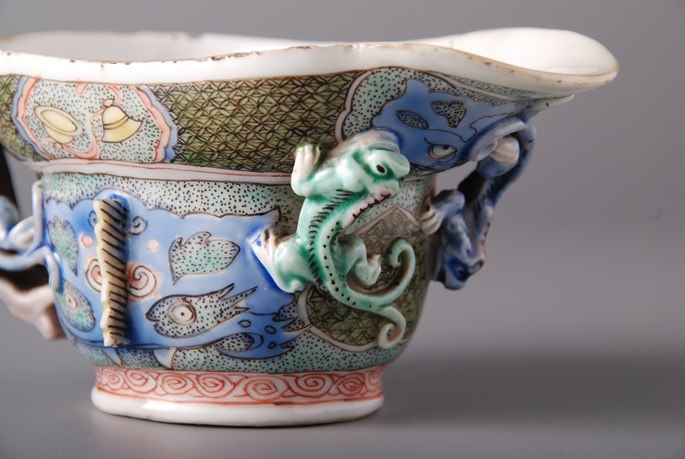 Famille Verte Libation Cupwith dragons | MasterArt
