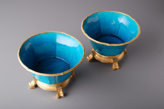 Pair of Turquoise Bowls. | MasterArt