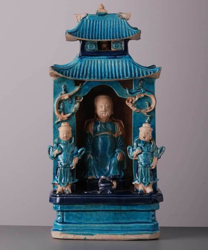 466. a Porcelain Shrine