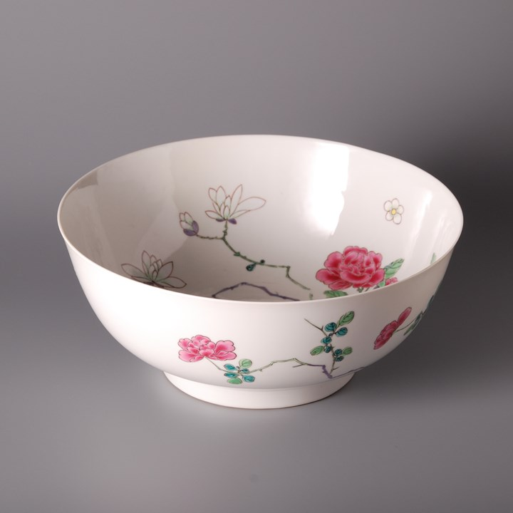 Famille Rose Bowl - Yongzheng period