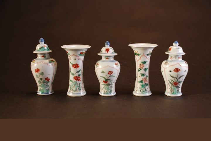 Five Piece Miniature Garniture - Kangxi period