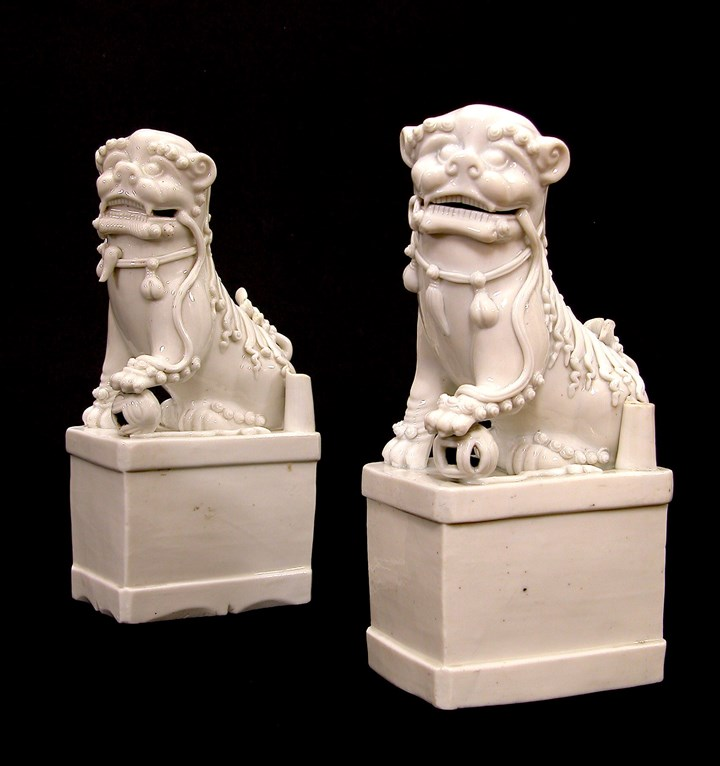 Two Blanc de Chine Fo-Dogs - Kangxi period