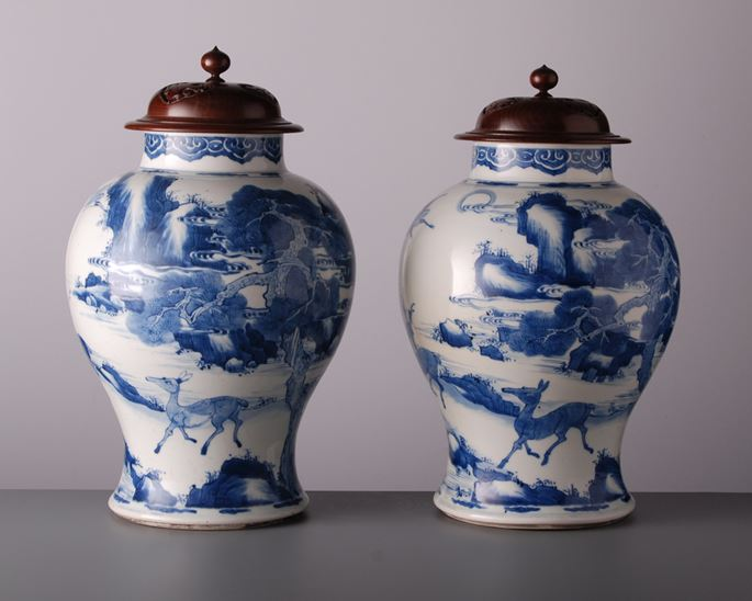 Pair of Large Vases and Covers | MasterArt