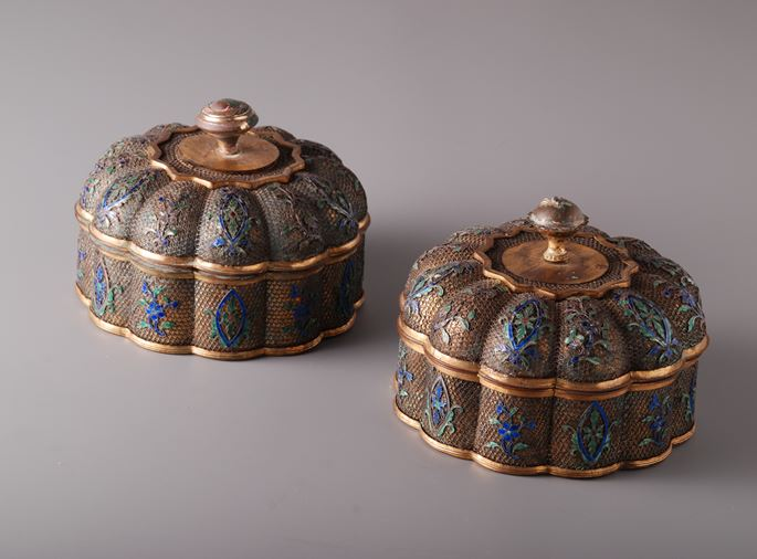 Pair of Filigree Boxes and Covers | MasterArt