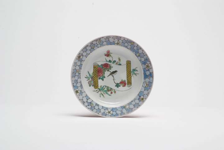 Plate with Songbird