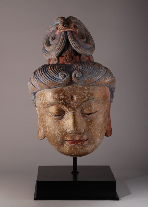 Large Stucco head of Guanyin | MasterArt