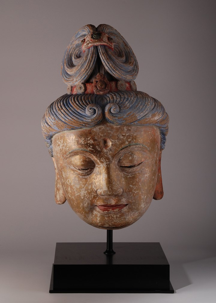 Large Stucco head of Guanyin