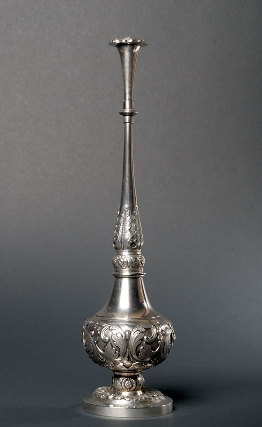 708. Chinese Export Silver Rosewater Sprinkler | MasterArt