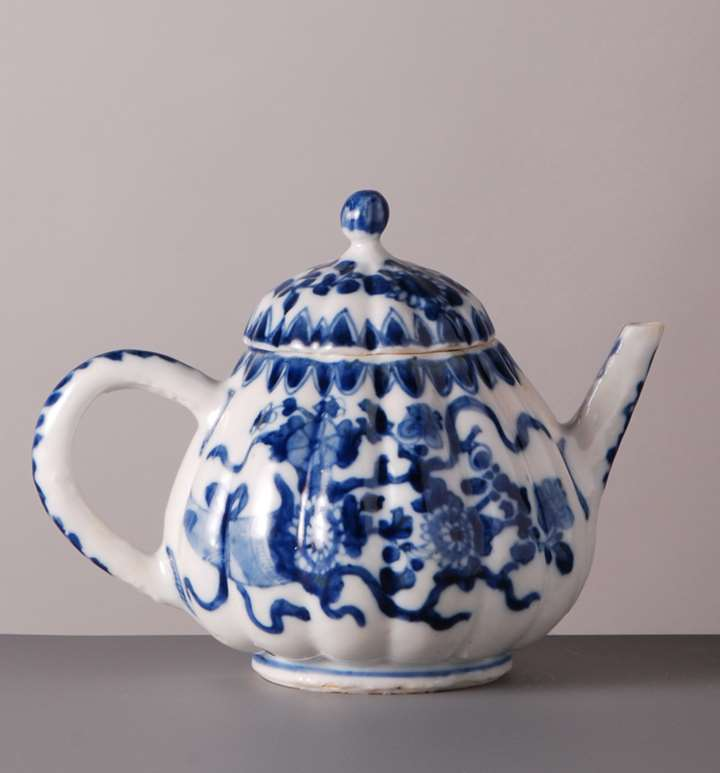 78. Blue White Tea Pot with cover