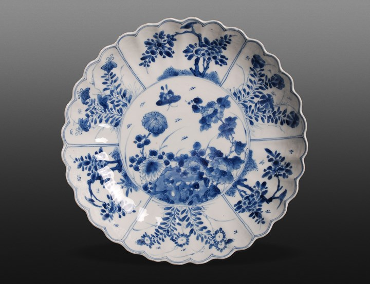 Blue and White Plate - Kangxi period