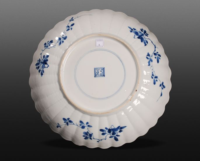 Blue and White Plate - Kangxi period | MasterArt