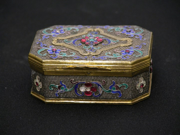 Filigree Silver and Enamel Box