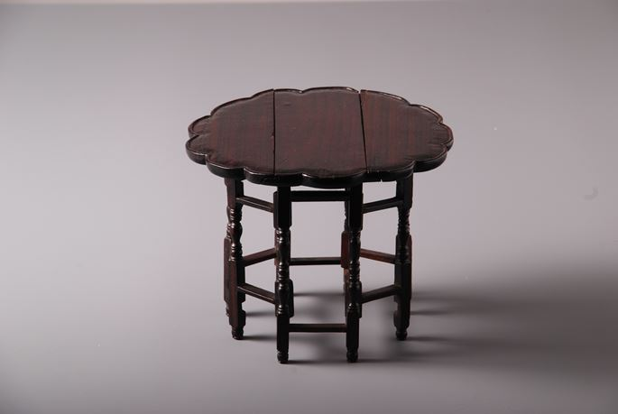 Double gate legged table Zitan Wood | MasterArt