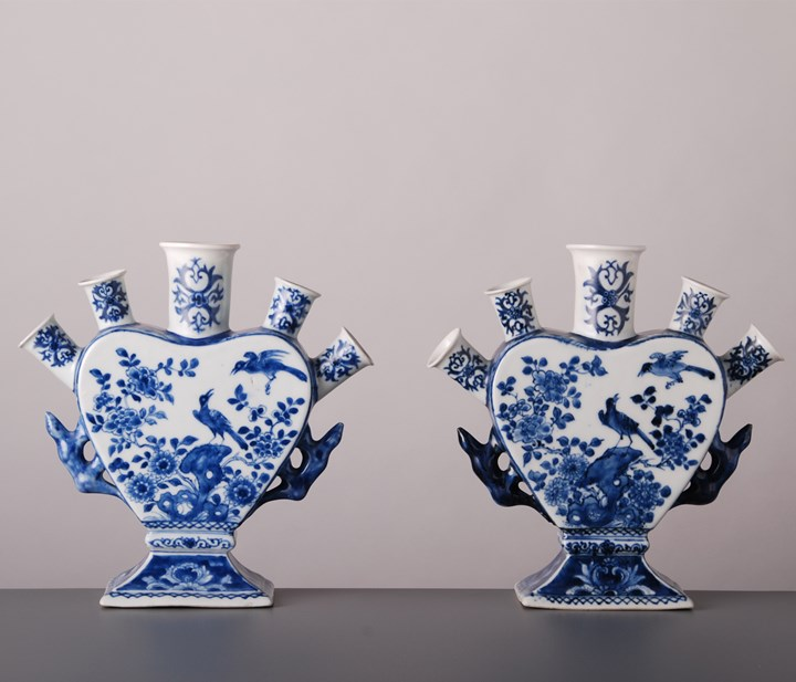9. Pair of Flower Vases
