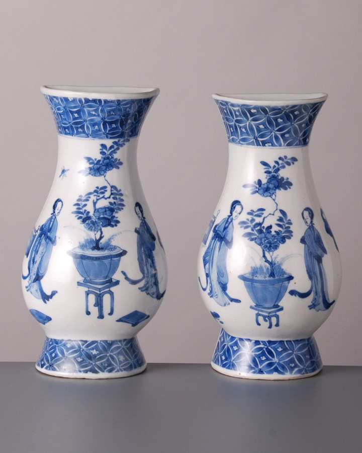 Pair of Wall Vases - Kangxi period