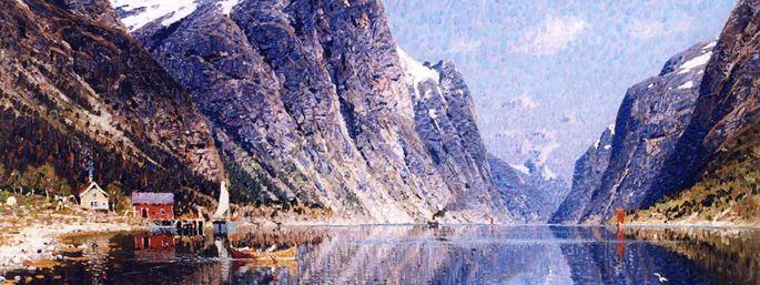 Adelsteen Normann - A Norwegian Fjord Scene | MasterArt