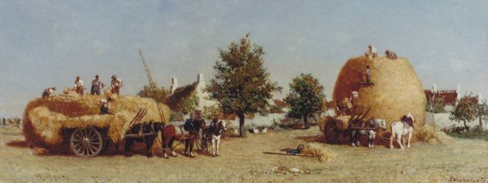 Jules Jacques Veyrassat - Harvesting | MasterArt