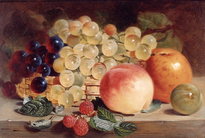 George Lance - Still Life with Fruit on a Table (PAIR) | MasterArt