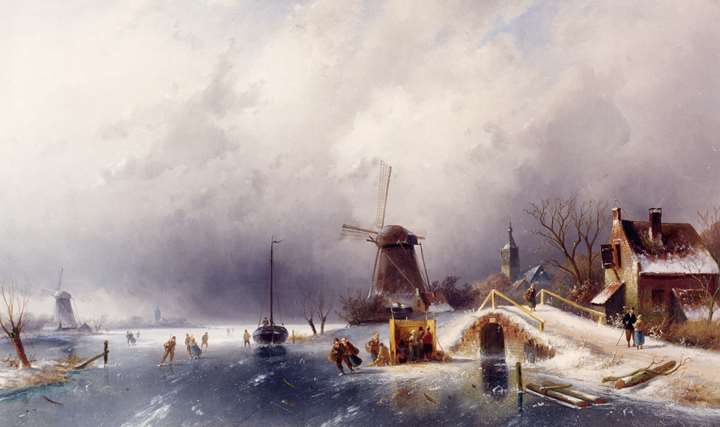 Skaters in a Winter Landscape, Holland