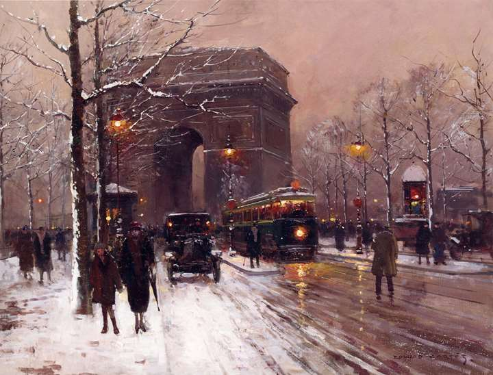 Arc de Triomphe, Paris, Winter