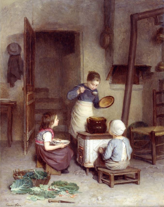 Edouard Frere - The Young Cook | MasterArt