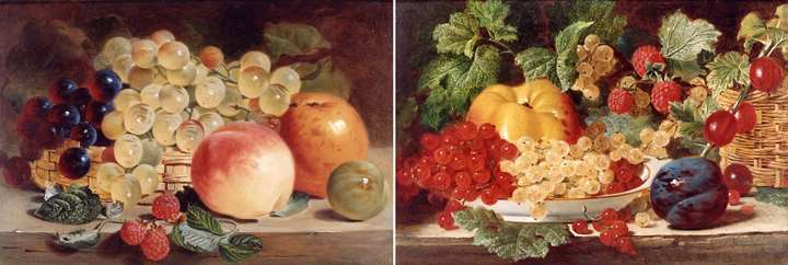 Still Life with Fruit on a Table (PAIR)
