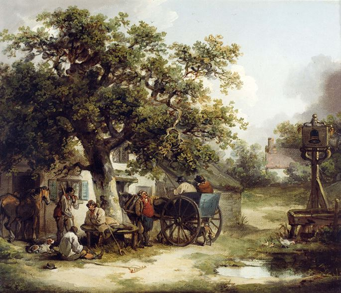 George Morland - The Bell Inn, Kilburn | MasterArt