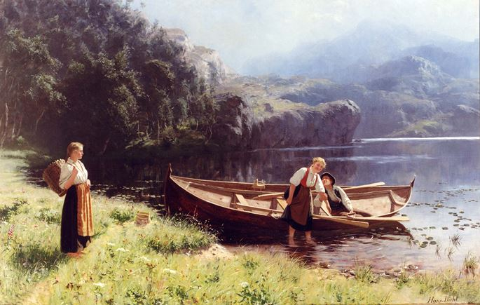 Hans Dahl - By the Water's Edge | MasterArt