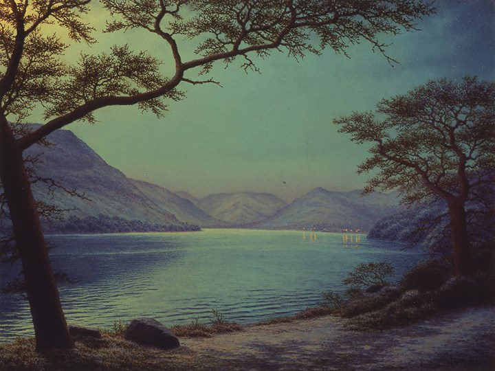 Moonlight Over Lake Ullswater