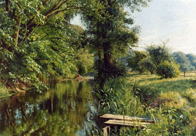Peder Mork Monsted - Reflections of Spring | MasterArt
