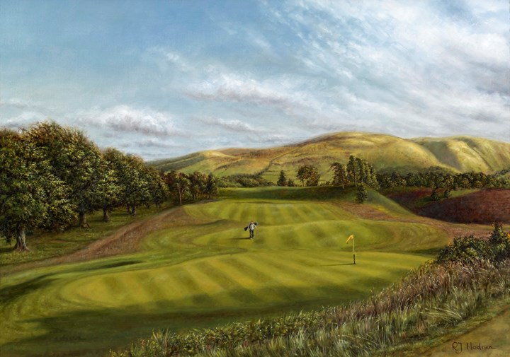 "Gleneagles - The Kings Course, 10th Hole - ""Canty Lye"""