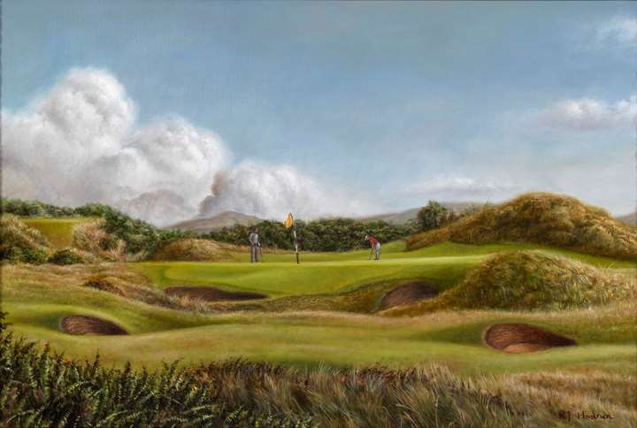 "Royal Troon, 8th Hole - ""The Postage Stamp"""