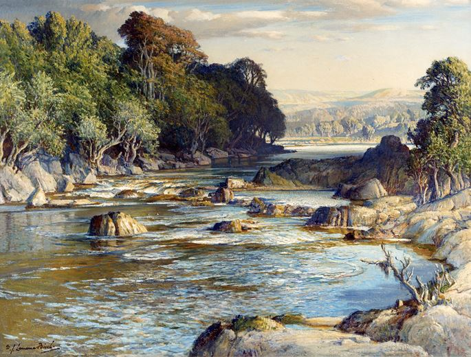 Samuel John Lamorna Birch RA - The Rock-Girt Pools of Spean | MasterArt