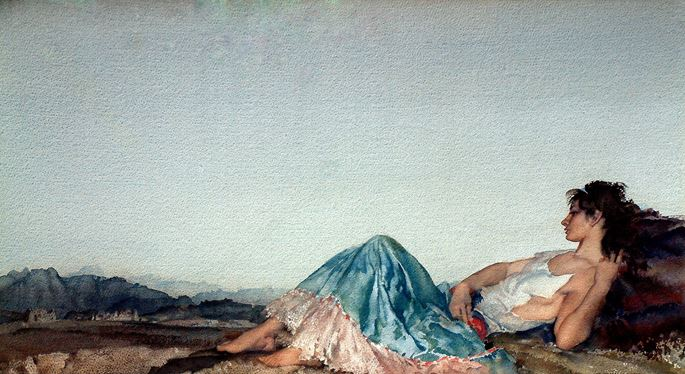 Sir William Russell  Flint - Lucille | MasterArt