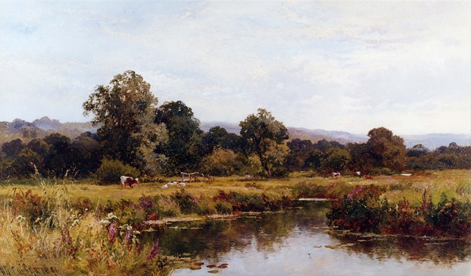 Walter W. Caffyn - Summer on the River Rother, Nr Midhurst, Sussex | MasterArt