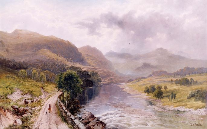 William H. Mander - A Welsh River Valley | MasterArt