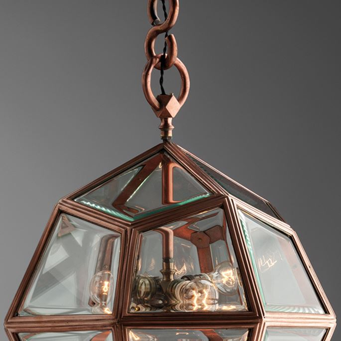 Adolf Loos - Hanging multi faceted lamp | MasterArt