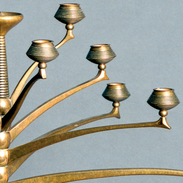 Thirteen light candelabra