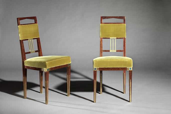 Gustave Serrurier-Bovy - Pair of side chairs 'Saint-Saens' | MasterArt