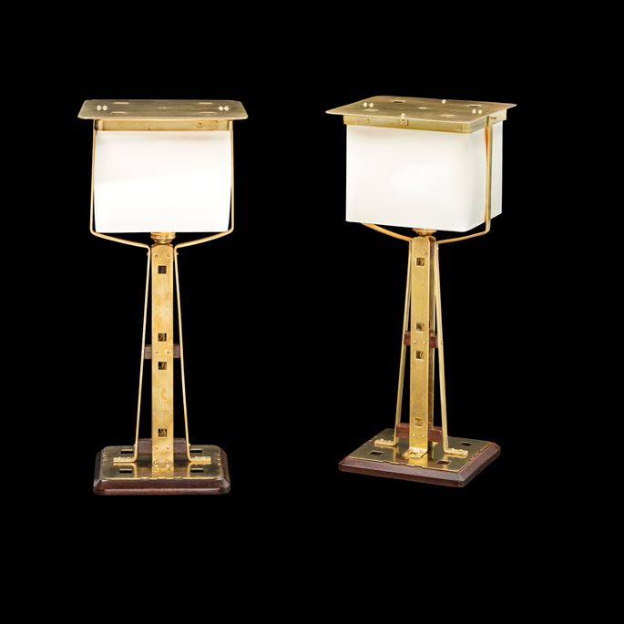Gustave Serrurier-Bovy - Pair of table lamps | MasterArt