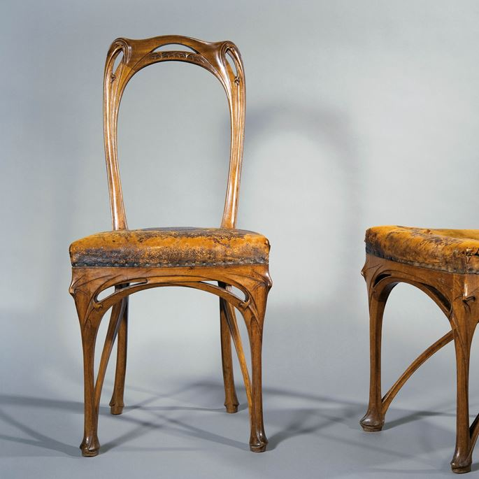 Hector Guimard - Pair of side chairs | MasterArt