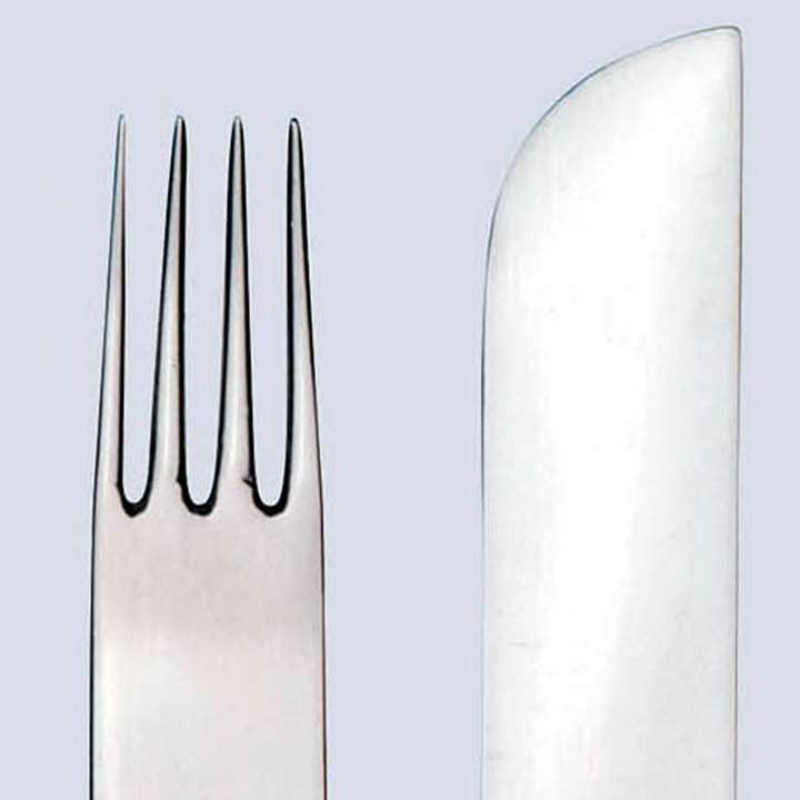 Dessert fork and knife