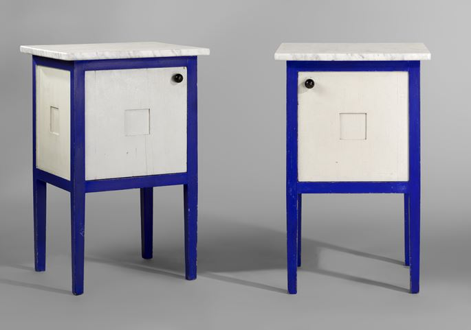 Josef  Hoffmann - Pair of bedside tables  | MasterArt